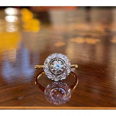 Bague Rosace diamants