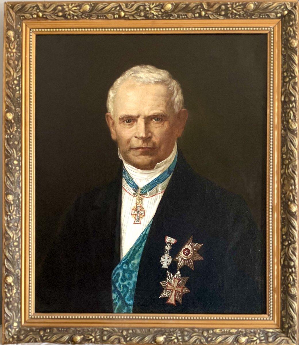 XIXth / Henrik Olrik / Hst / Orders Of The Elephant And The Dannebrog / Denmark / 1881 / Portrait