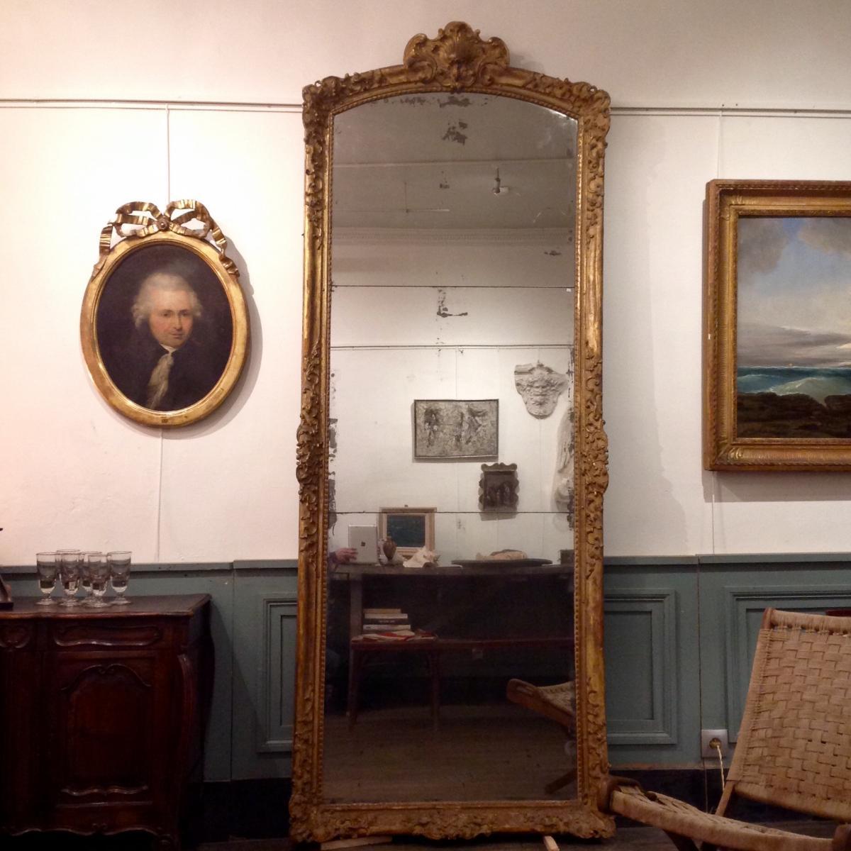 Important Miroir d'époque Louis XIV