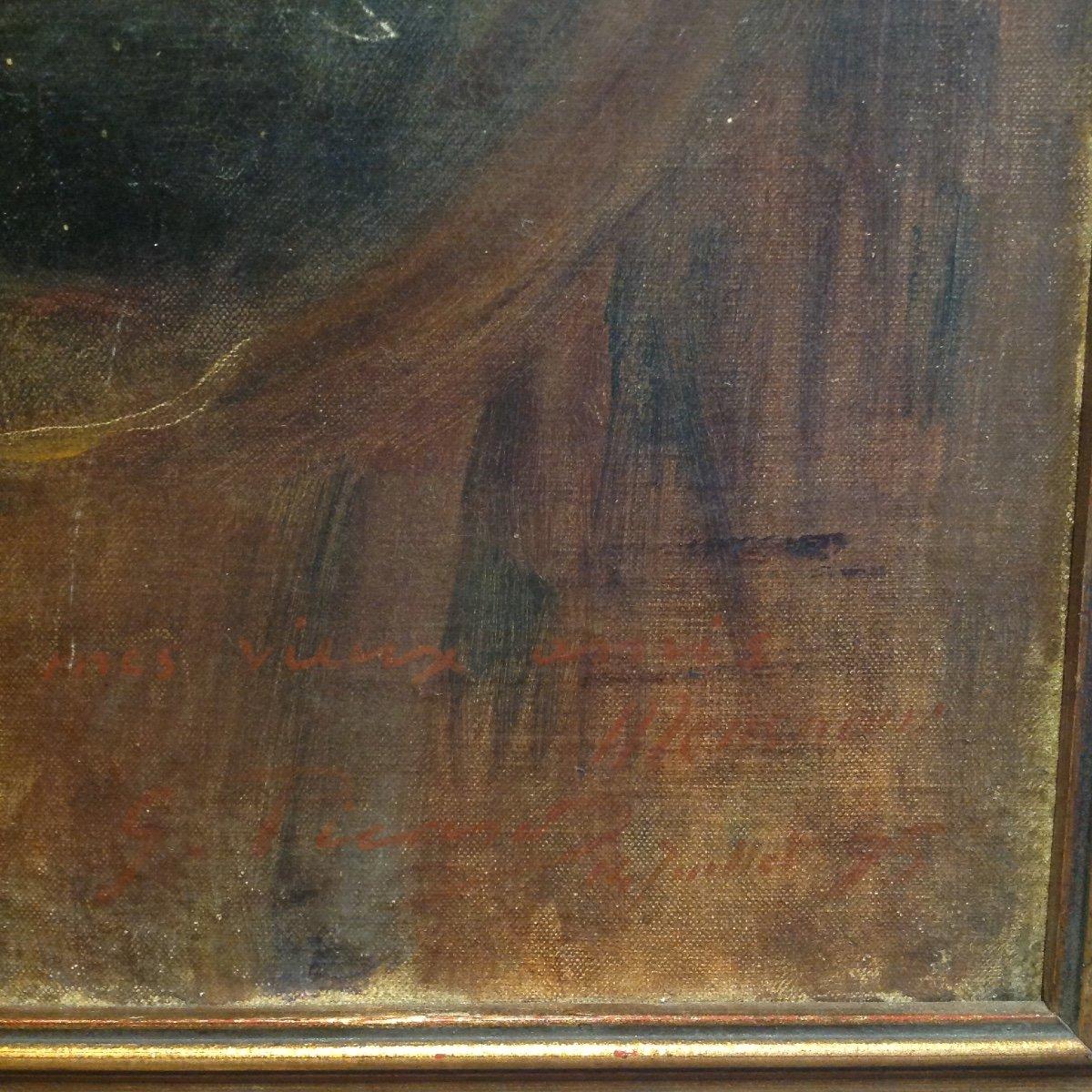 Georges Picard. Portrait De Femme Dans Un Intérieur.-photo-4