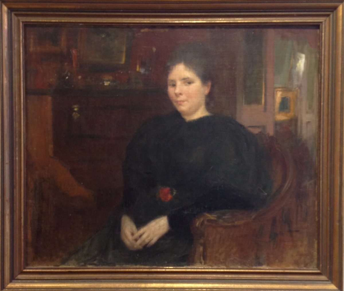 Georges Picard. Portrait De Femme Dans Un Intérieur.