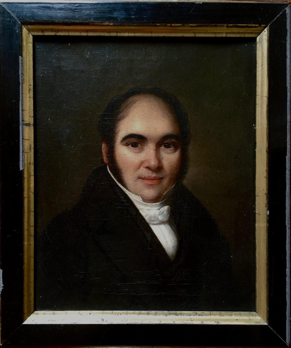 Portrait d'Homme Daté 1832, Dans Le Goût De Louis-léopold  Boilly.