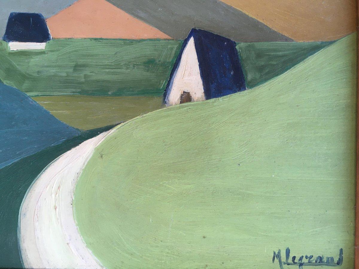 Marcel Legrand. Huile Sur Carton. Paysage De Montagne, Les Pyrénées Vers 1930-photo-4