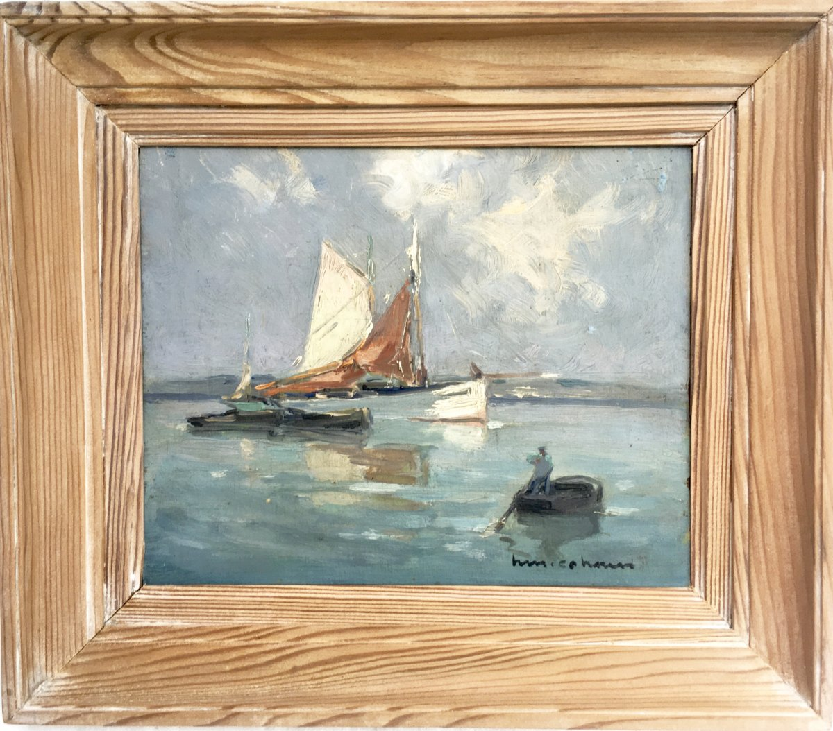 Cahours Henri Maurice (1889 1954)<br /> oil on panel, circa 1930. Douarnenez Britany.