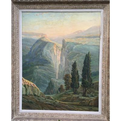 Important Oil On Canvas, Mountain View