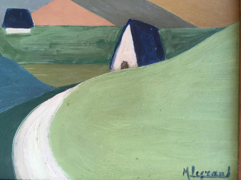 Marcel Legrand. Oil On Cardboard. Mountain Landscape, The Pyrenees Around 1930-photo-4