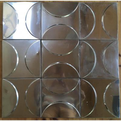 Série De 30 Panneaux Décoratifs, Décor Cinétique Vers 1970