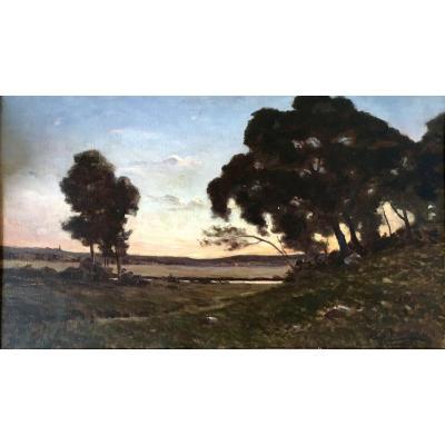 A. Couturaud Oil Canvas (imberti Bordeaux) Painter Charentes / Barbizon Auguin Gaston Balande