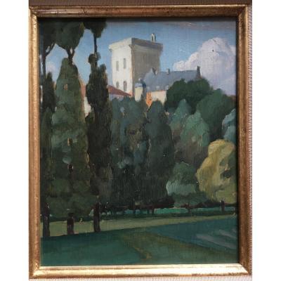 Jules Louis Moréteau. Moroccan Landscape. Orientalism, Africanism.