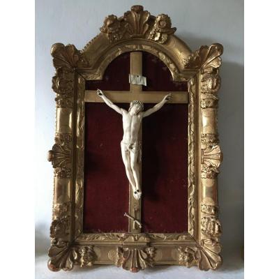 Important Christ En Ivoire, Exceptionnelle Qualité De Sculpture. Travail Ancien XVII-xviii ème