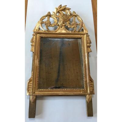 Miroir d'époque Louis XVI, Travail Provincial Du XVIII ème Siècle;