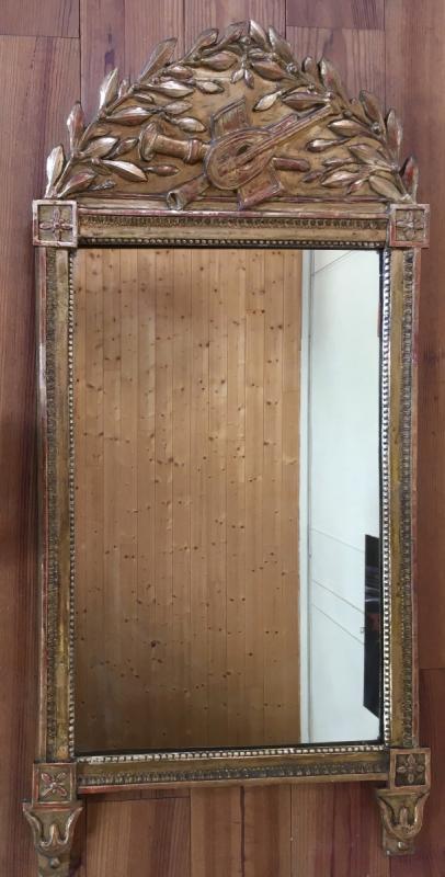 Miroir d'époque Louis XVI, Travail Provincial Du XVIII ème Siècle;-photo-2