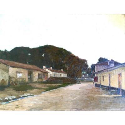Pierre Gaston Rigaud, Huile Sur Toile Impressionniste Datée 1904, St Morillon
