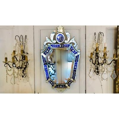 Important Pair Of Louis XV Wall Lights With Crystal Tassels
