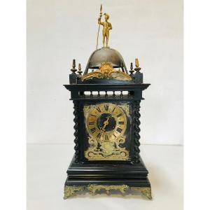 Horloge/pendule XIXème Siècle Travail Probablement Anglais en Bois Noirci
