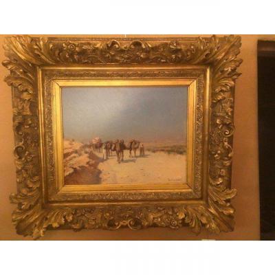 Peinture Sur Bois - Fin Du XIXème Siècle