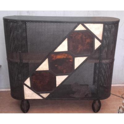 Perforated Metal Bar And Resin Color Scale 1950