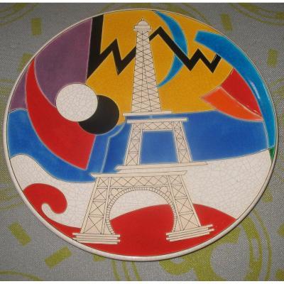 Grand Plat Longwy Tour Eiffel Par Curetti danillo