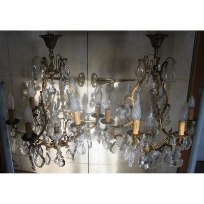 Pair Of Chandelier Cage