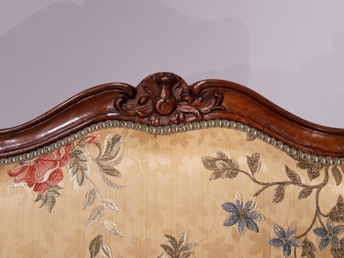 Paire de fauteuils Louis XV en noyer époque XVIII°-photo-2