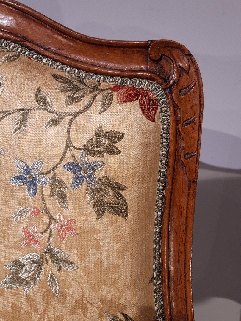 Paire de fauteuils Louis XV en noyer époque XVIII°-photo-5
