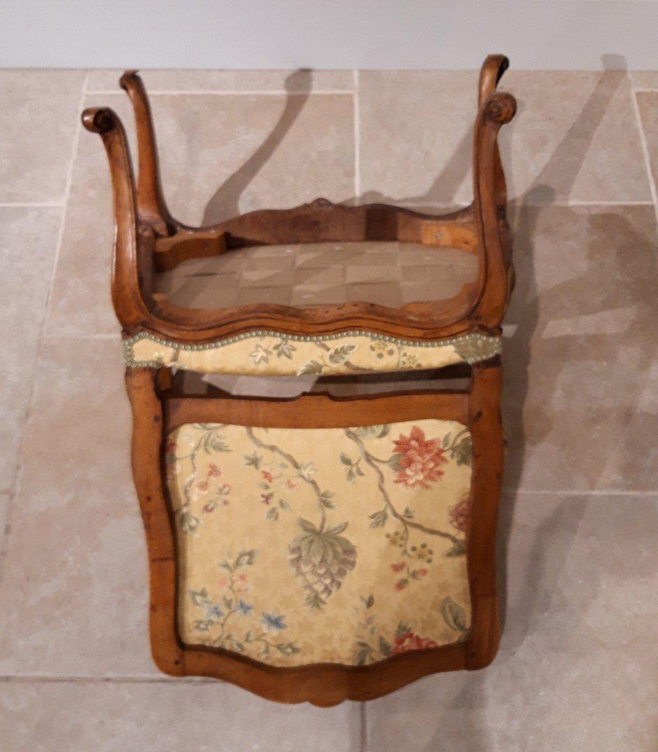 Paire de fauteuils Louis XV en noyer époque XVIII°-photo-7