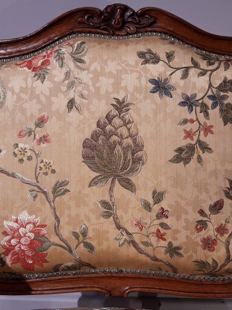 Paire de fauteuils Louis XV en noyer époque XVIII°-photo-8
