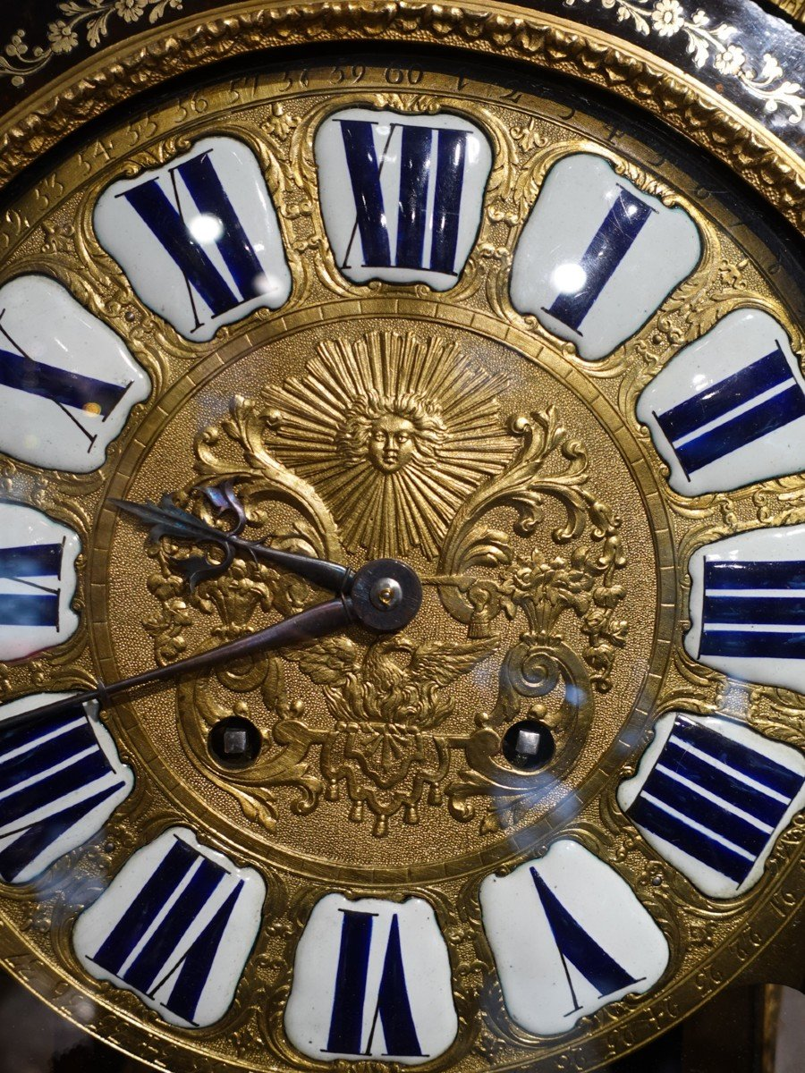 Cartel d'applique Louis XV en marqueterie Boulle signé « Saint Martin à Paris»-photo-5