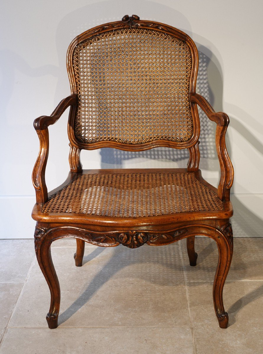 Set Of Two Louis XV Armchairs And Four Chairs, 18th Century