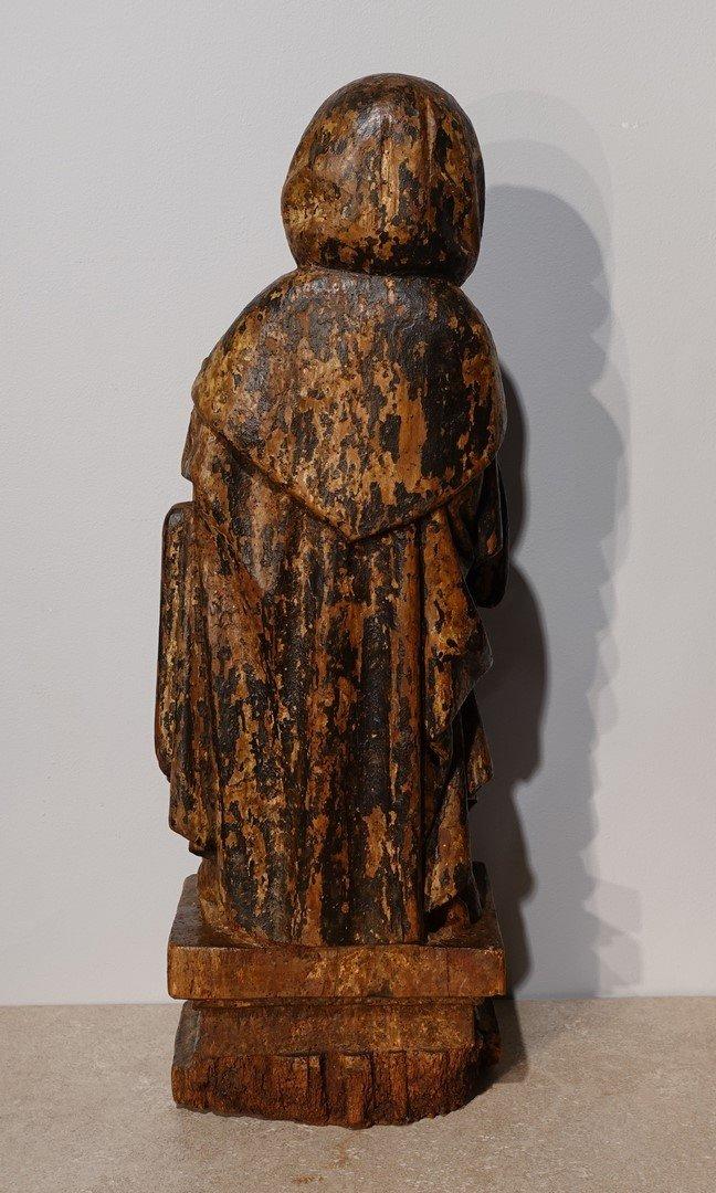 Saint Antoine ermite en bois sculpté et polychrome Époque XVII°-photo-5