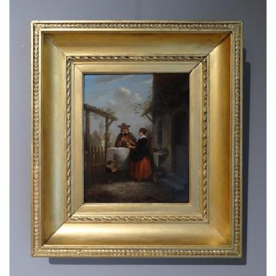Dutch Oil On Panel, Signed And Dated 1795