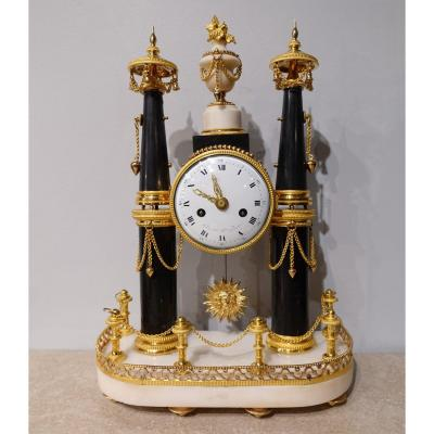 French Louis XVI Portico Clock, 18th Century