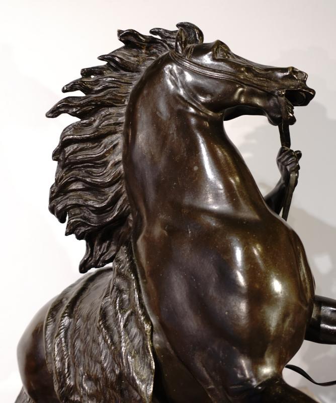 Bronze «Les chevaux de Marly» d'après Coustou, École Française de la fin du XIX° siècle -photo-4