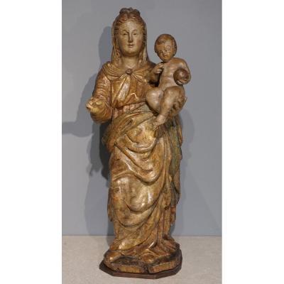 Italian Virgin And Child, Late 16th Century.