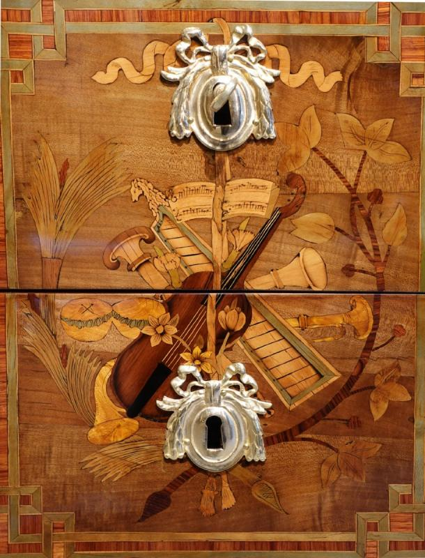 """Commode Transition aux """"Instruments de Musique"""", époque XVIII°-photo-4"""