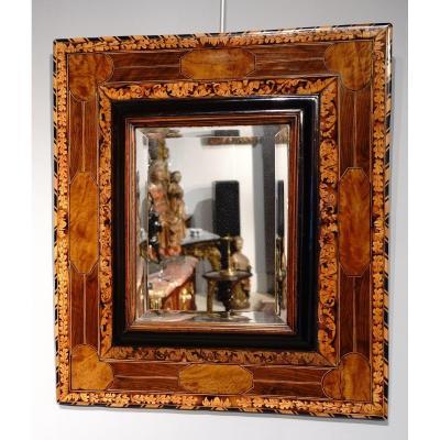 Marquetry Mirror Attributed To Thomas Hache Circa 1695