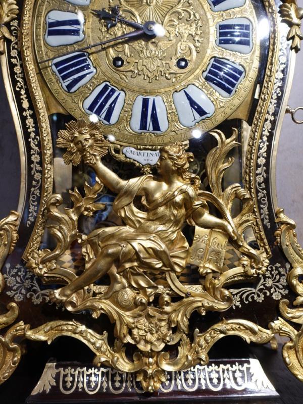 Cartel d'applique Louis XV en marqueterie Boulle signé « Saint Martin à Paris»-photo-4