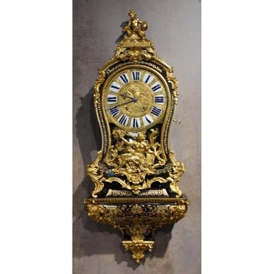 Louis XV Cartel In Boulle Marquetry, Signed