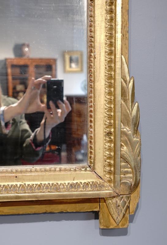 Miroir Louis XVI en bois doré aux attributs de « l'Amour », d'époque XVIII°-photo-4