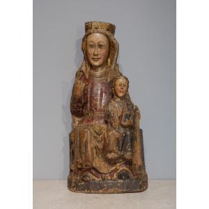 Vierge à l'enfant en Majesté dite ''Sedes Sapientiae'', époque fin XIII°