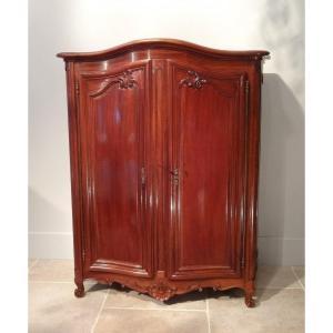 """Rare petite armoire Louis XV dite """"Bassette"""" d'époque XVIII°"""