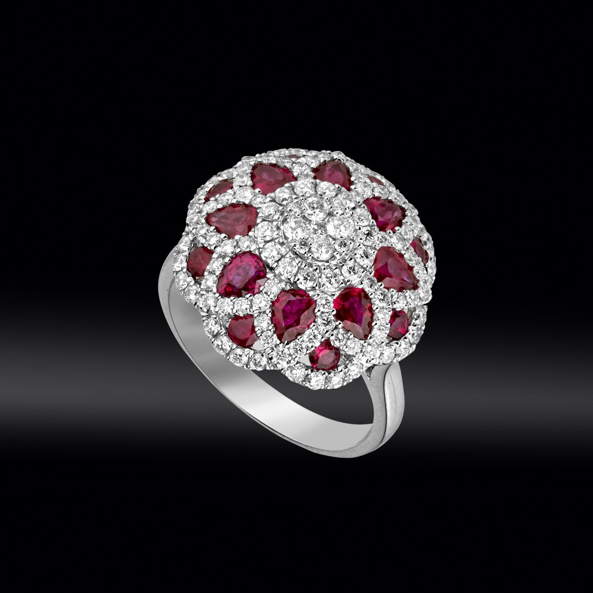 Ruby And Diamond Dome Ring