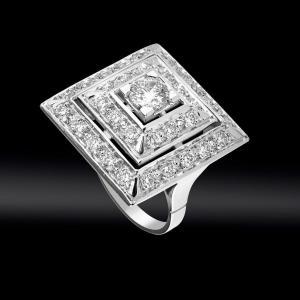 Bague Pyramide Diamants Vers 1950