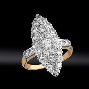 """Bague """"Marquise"""" diamants"""