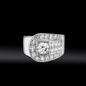 """Diamond """"belt"""" Ring Circa 1930"""