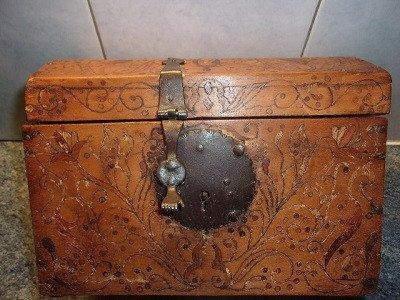 Small Box In Tarsia A Incastro Marquetry And Italian Origin Fittings Th. 18th Century