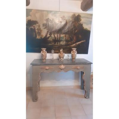 Louis XIV style painted console 1900 period