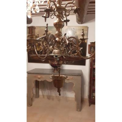 Seventeen century orthodoxe chandelier bronze