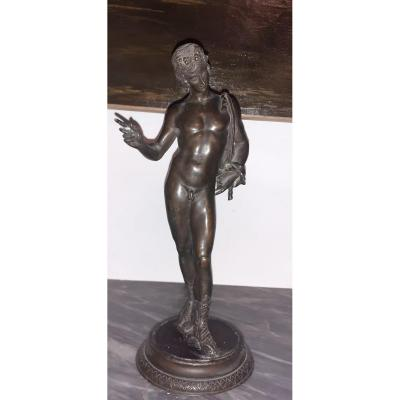 Petit Bronze représentant Narcisse D 'époque1900