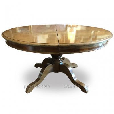 Table Ovale De Salle à Manger En Noyer 19ème